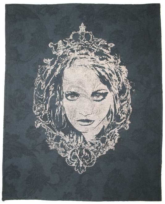 Black Cameo - Brocade edition  : 2010 Burn out print on brocade. Edition of 8        <br />