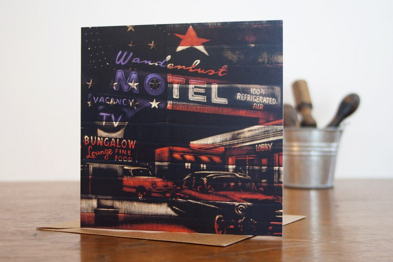 Motel Greetings Card - Click here to view and order this product